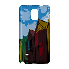 Brightly Colored Dressing Huts Samsung Galaxy Note 4 Hardshell Case by Nexatart