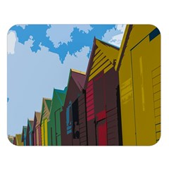 Brightly Colored Dressing Huts Double Sided Flano Blanket (large)  by Nexatart