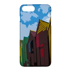 Brightly Colored Dressing Huts Apple Iphone 7 Plus Hardshell Case by Nexatart