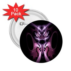 Angry Mantis Fractal In Shades Of Purple 2 25  Buttons (10 Pack)  by Nexatart