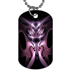 Angry Mantis Fractal In Shades Of Purple Dog Tag (two Sides)