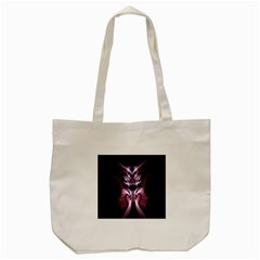 Angry Mantis Fractal In Shades Of Purple Tote Bag (cream) by Nexatart