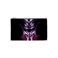 Angry Mantis Fractal In Shades Of Purple Cosmetic Bag (small)  by Nexatart