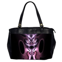 Angry Mantis Fractal In Shades Of Purple Office Handbags (2 Sides)  by Nexatart