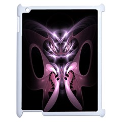 Angry Mantis Fractal In Shades Of Purple Apple Ipad 2 Case (white) by Nexatart