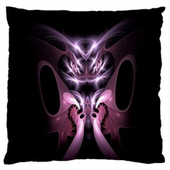 Angry Mantis Fractal In Shades Of Purple Large Flano Cushion Case (two Sides) by Nexatart