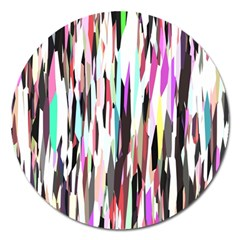 Randomized Colors Background Wallpaper Magnet 5  (Round) by Nexatart