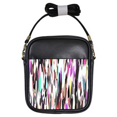 Randomized Colors Background Wallpaper Girls Sling Bags by Nexatart