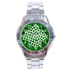 Abstract Clutter Stainless Steel Analogue Watch by Nexatart