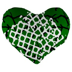 Abstract Clutter Large 19  Premium Heart Shape Cushions by Nexatart