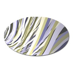 Wavy Ribbons Background Wallpaper Oval Magnet by Nexatart