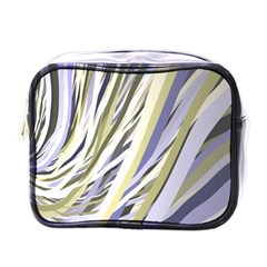 Wavy Ribbons Background Wallpaper Mini Toiletries Bags by Nexatart