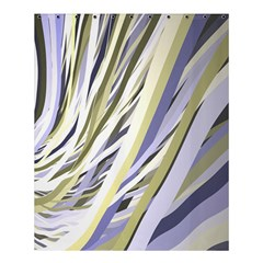Wavy Ribbons Background Wallpaper Shower Curtain 60  X 72  (medium)  by Nexatart