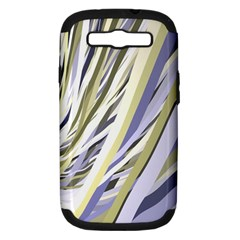 Wavy Ribbons Background Wallpaper Samsung Galaxy S Iii Hardshell Case (pc+silicone) by Nexatart