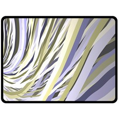 Wavy Ribbons Background Wallpaper Double Sided Fleece Blanket (large)  by Nexatart
