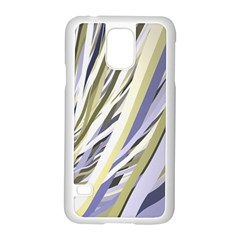 Wavy Ribbons Background Wallpaper Samsung Galaxy S5 Case (white) by Nexatart