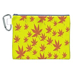 Autumn Background Canvas Cosmetic Bag (xxl) by Nexatart