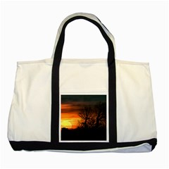 Sunset At Nature Landscape Two Tone Tote Bag by dflcprints