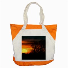 Sunset At Nature Landscape Accent Tote Bag by dflcprints