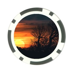 Sunset At Nature Landscape Poker Chip Card Guard by dflcprints