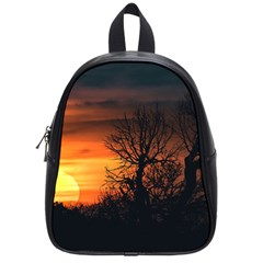 Sunset At Nature Landscape School Bags (small)  by dflcprints