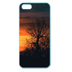 Sunset At Nature Landscape Apple Seamless Iphone 5 Case (color) by dflcprints