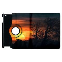 Sunset At Nature Landscape Apple Ipad 3/4 Flip 360 Case by dflcprints