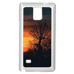 Sunset At Nature Landscape Samsung Galaxy Note 4 Case (white) by dflcprints