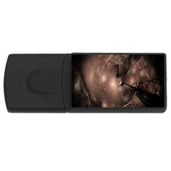 A Fractal Image In Shades Of Brown Usb Flash Drive Rectangular (4 Gb) by Nexatart