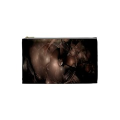 A Fractal Image In Shades Of Brown Cosmetic Bag (small)  by Nexatart