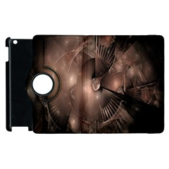 A Fractal Image In Shades Of Brown Apple Ipad 2 Flip 360 Case by Nexatart