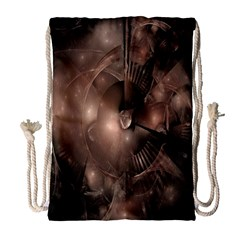 A Fractal Image In Shades Of Brown Drawstring Bag (large) by Nexatart