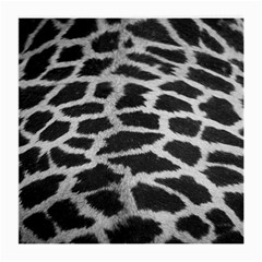 Black And White Giraffe Skin Pattern Medium Glasses Cloth (2-Side) by Nexatart