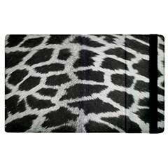 Black And White Giraffe Skin Pattern Apple Ipad 3/4 Flip Case by Nexatart