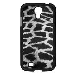 Black And White Giraffe Skin Pattern Samsung Galaxy S4 I9500/ I9505 Case (black) by Nexatart