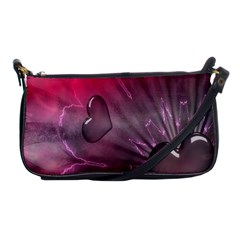 Love Hearth Background Wallpaper Shoulder Clutch Bags by Nexatart