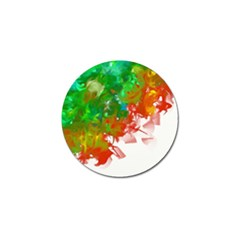 Digitally Painted Messy Paint Background Textur Golf Ball Marker (10 Pack) by Nexatart