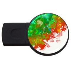 Digitally Painted Messy Paint Background Textur Usb Flash Drive Round (2 Gb) by Nexatart