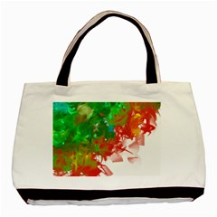 Digitally Painted Messy Paint Background Textur Basic Tote Bag by Nexatart