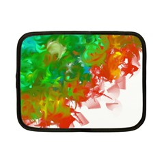 Digitally Painted Messy Paint Background Textur Netbook Case (small)  by Nexatart