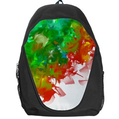 Digitally Painted Messy Paint Background Textur Backpack Bag by Nexatart