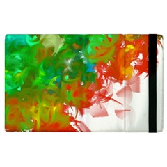 Digitally Painted Messy Paint Background Textur Apple Ipad 2 Flip Case by Nexatart