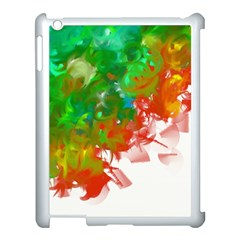 Digitally Painted Messy Paint Background Textur Apple Ipad 3/4 Case (white) by Nexatart