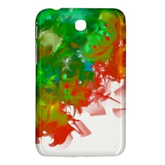 Digitally Painted Messy Paint Background Textur Samsung Galaxy Tab 3 (7 ) P3200 Hardshell Case