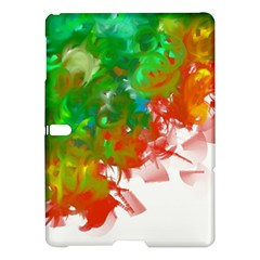 Digitally Painted Messy Paint Background Textur Samsung Galaxy Tab S (10 5 ) Hardshell Case  by Nexatart