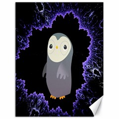 Fractal Image With Penguin Drawing Canvas 18  X 24   by Nexatart