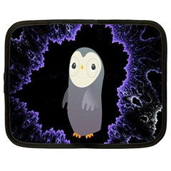 Fractal Image With Penguin Drawing Netbook Case (xl)  by Nexatart