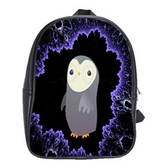 Fractal Image With Penguin Drawing School Bags(large)  by Nexatart
