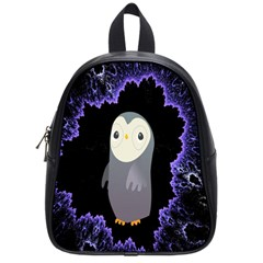 Fractal Image With Penguin Drawing School Bags (small)  by Nexatart
