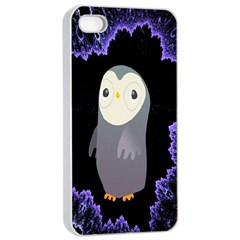 Fractal Image With Penguin Drawing Apple Iphone 4/4s Seamless Case (white) by Nexatart